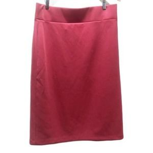 Eloquii Midi Pencil Skirt Pink Plus Size 16V